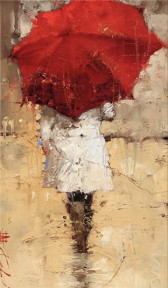 andre kohn 1972 white umbrellas tutt 39 art pittura