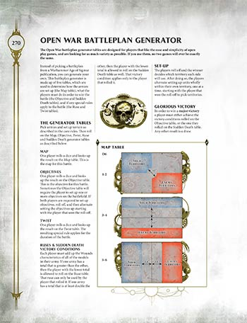 Open War batlle generator