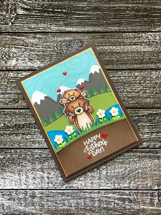Father's Day Card by June Guest Designer Megan Quinn | Papa Bear Stamp Set by Newton's Nook Designs #newtonsnook #handmade