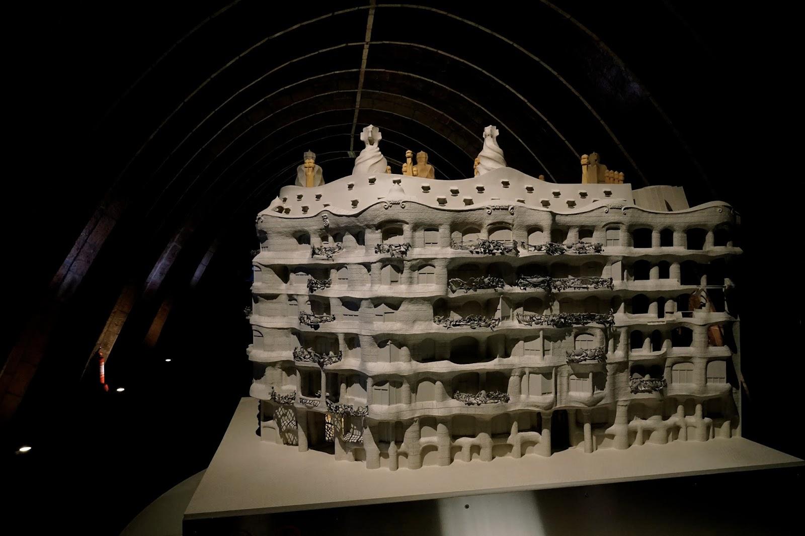 カサ・ミラ(Casa Milà)の模型(表)