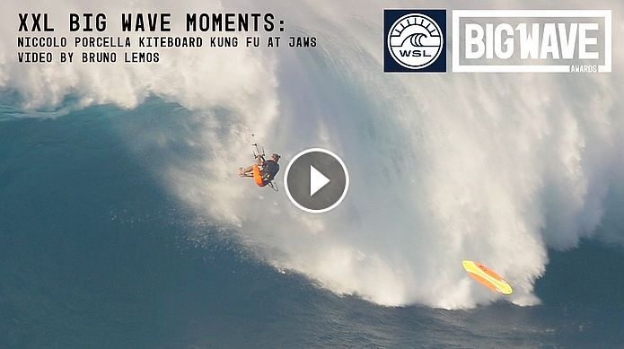 Niccolo Porcella Kung Fu Kickout at Jaws - A WSL Big Wave Awards Moment