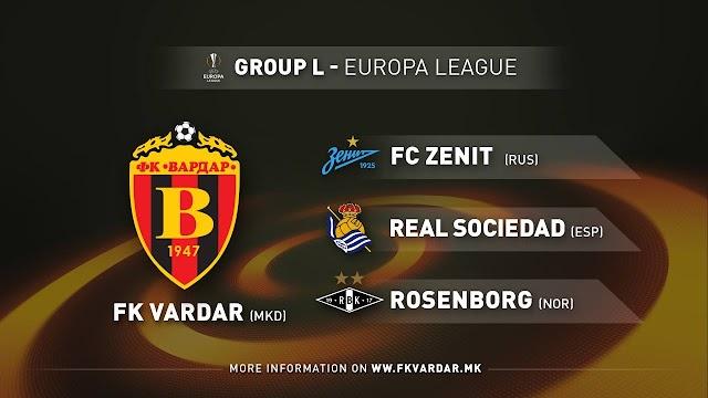 UEFA Europa League: Vardar Skopje gegen Zenit, Rosenborg und Real Sociedad