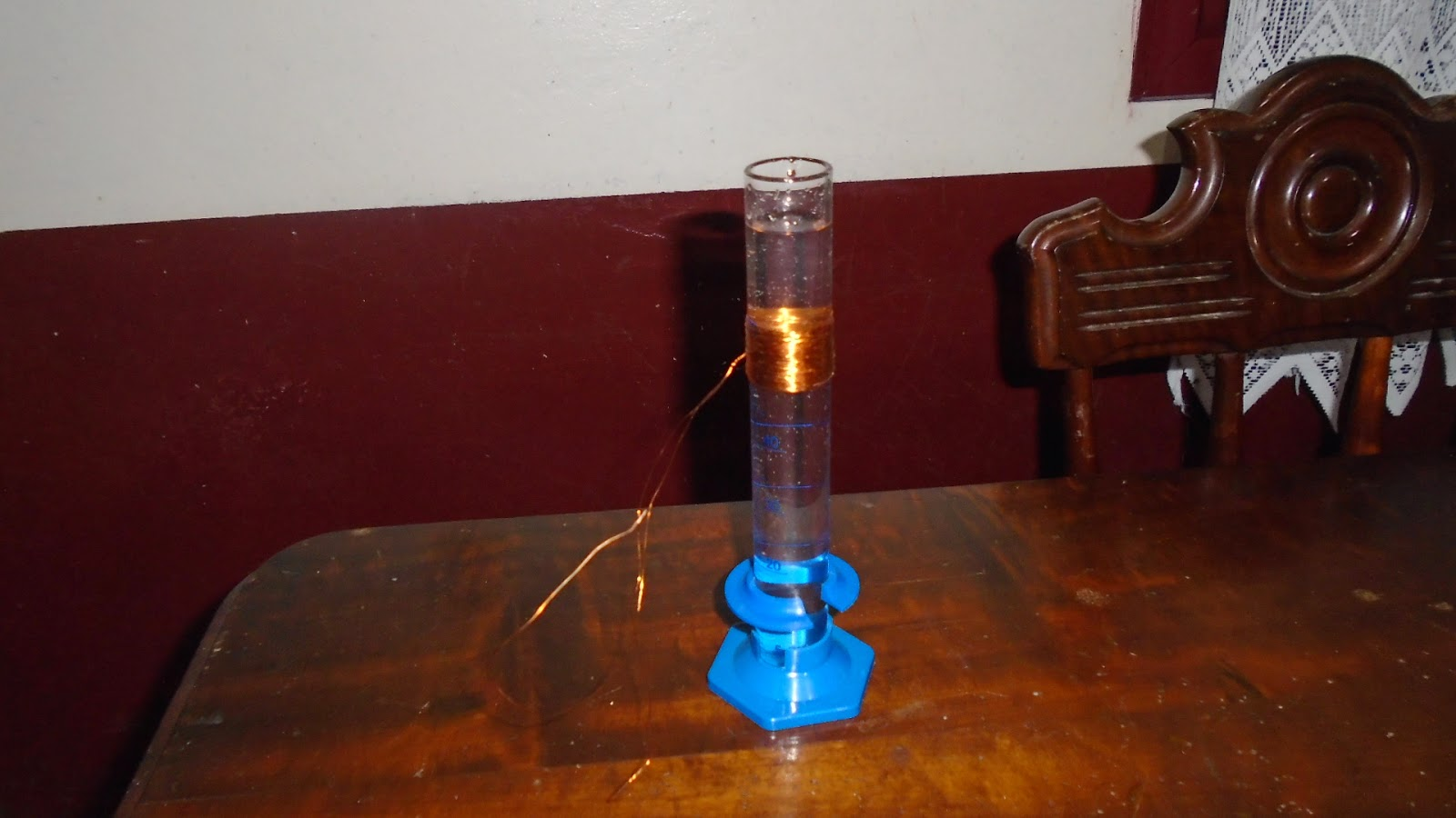 89389b6137a Devemos enrolar o fio de cobre no tubo de ensaio