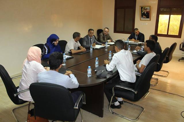 مدير أكاديمية جهة كلميم وادنون يجتمع بتمثيلية عن الأساتذة موظفي الأكاديمية