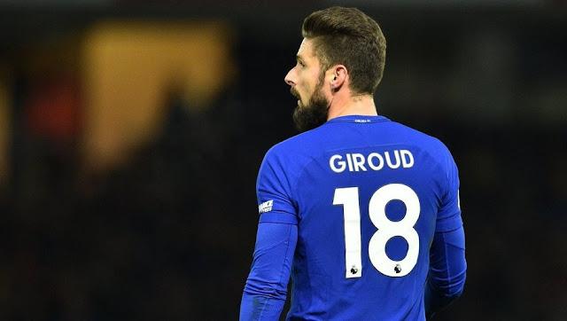 Giroud dévoile les noms des 3 clubs qu'il a refusé avant de signer à Chelsea