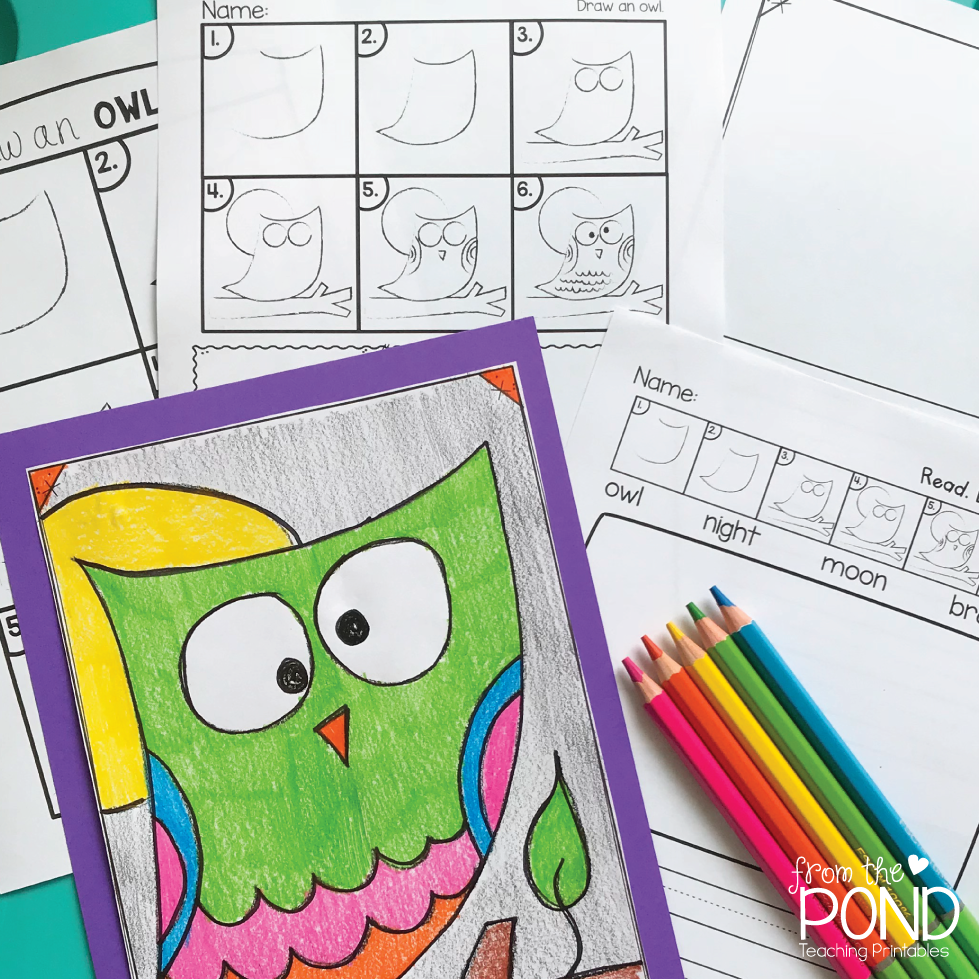 I Have A Free Printable Owl Directed Drawing Art Project With 4 Activity Variations Over In My TpT Store For You