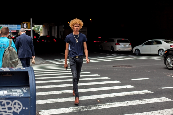 New york street style models off duty black male models new york fashion week mens curly hair boots and tight jeans angel verde the stylepreneur 2016