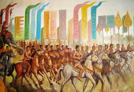Chenla Cavalry troops