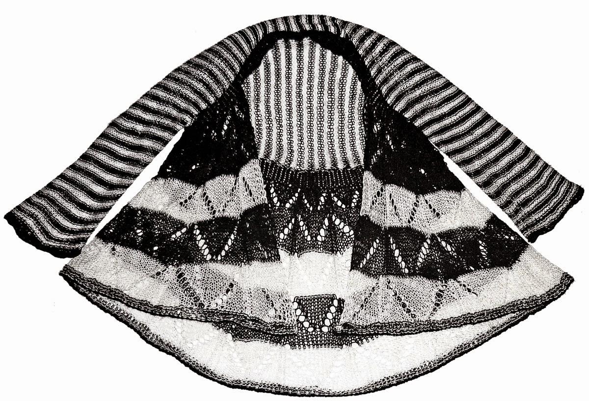Chaleco tejido a dos agujas en estambres Cisne Hobby en blanco y negro ced226f05c98