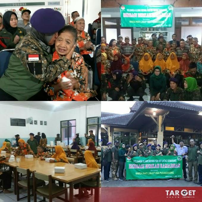 Jum'at Berkah Alumni Resimen Mahasiswa 907 UNTAG Semarang Sambangi Panti Sosial