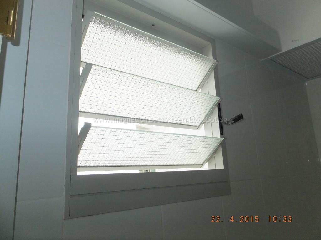 DIY Magnetic Insect Screen Singapore: Install Insect Screen On Louvre Window
