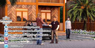 Hunian Minimalis Dengan Gaya Arsitektur Rumah Jawa - Tampilan Depan