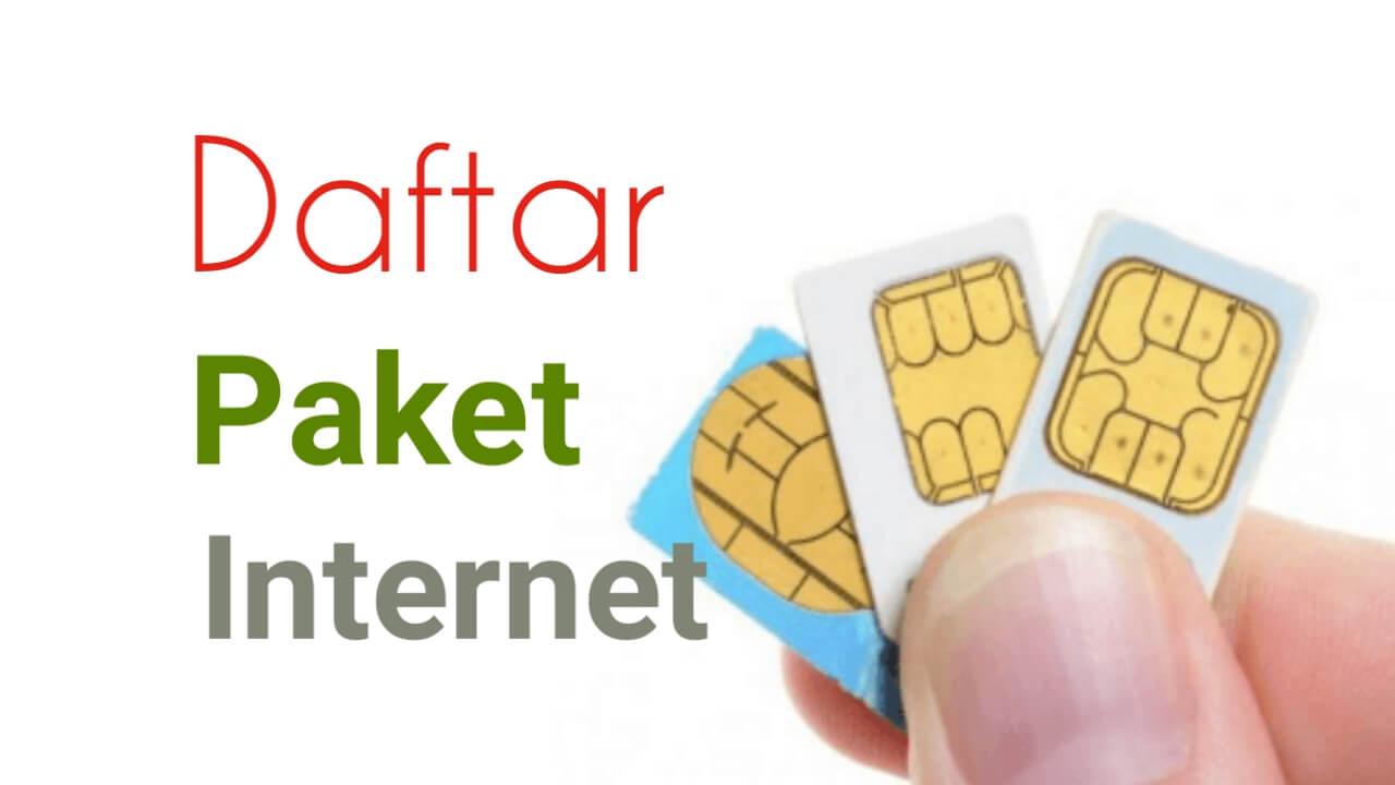 Daftar Paket Internet Murah Telkomsel Indosat xl Axis tri