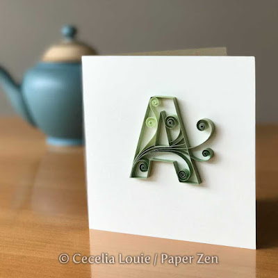 Quilling Letters Template Pattern Greeting Card