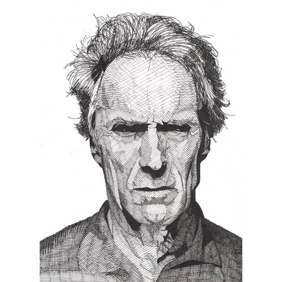 12-Clint-Eastwood-Rik-Reimert-www-designstack-co