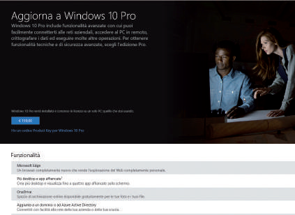 Come passare a Windows 10 Pro