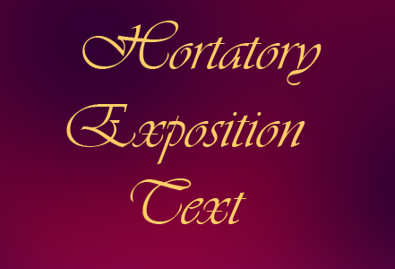 Eduartinfo Hortatory And Analitical Exposition Text