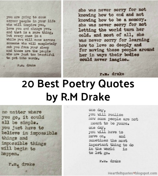 20 Best Poetry Quotes By Rm Drake Heartfelt Love And Life Quotes