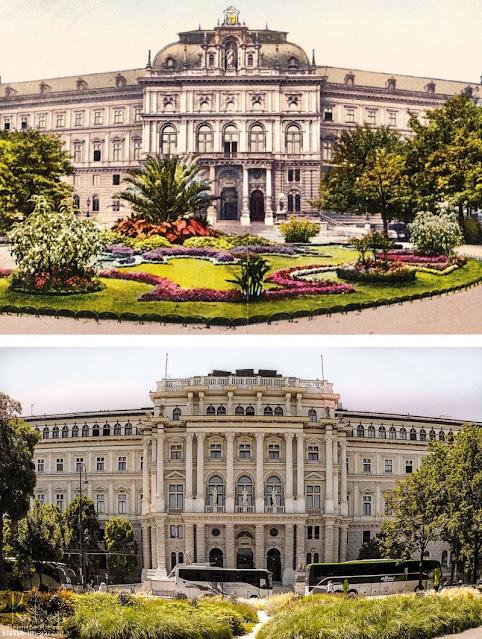 Grete-Rehor-Park und Justizpalast 1927 und 2016