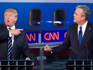 Trump and Jeb Bush Debating -By David Milberg