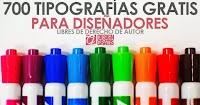700 Tipografias profesionales gratis libres de derechos de autor 2017