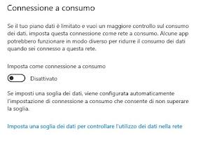 Connessione consumo