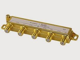 Monoprice PREMIUM 4 way Coax Cable Splitter F type Screw - 5~2400