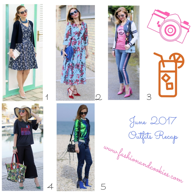 Fashion recap: outfits from the month of June on Fashion and Cookies fashion blog, fashion blogger style