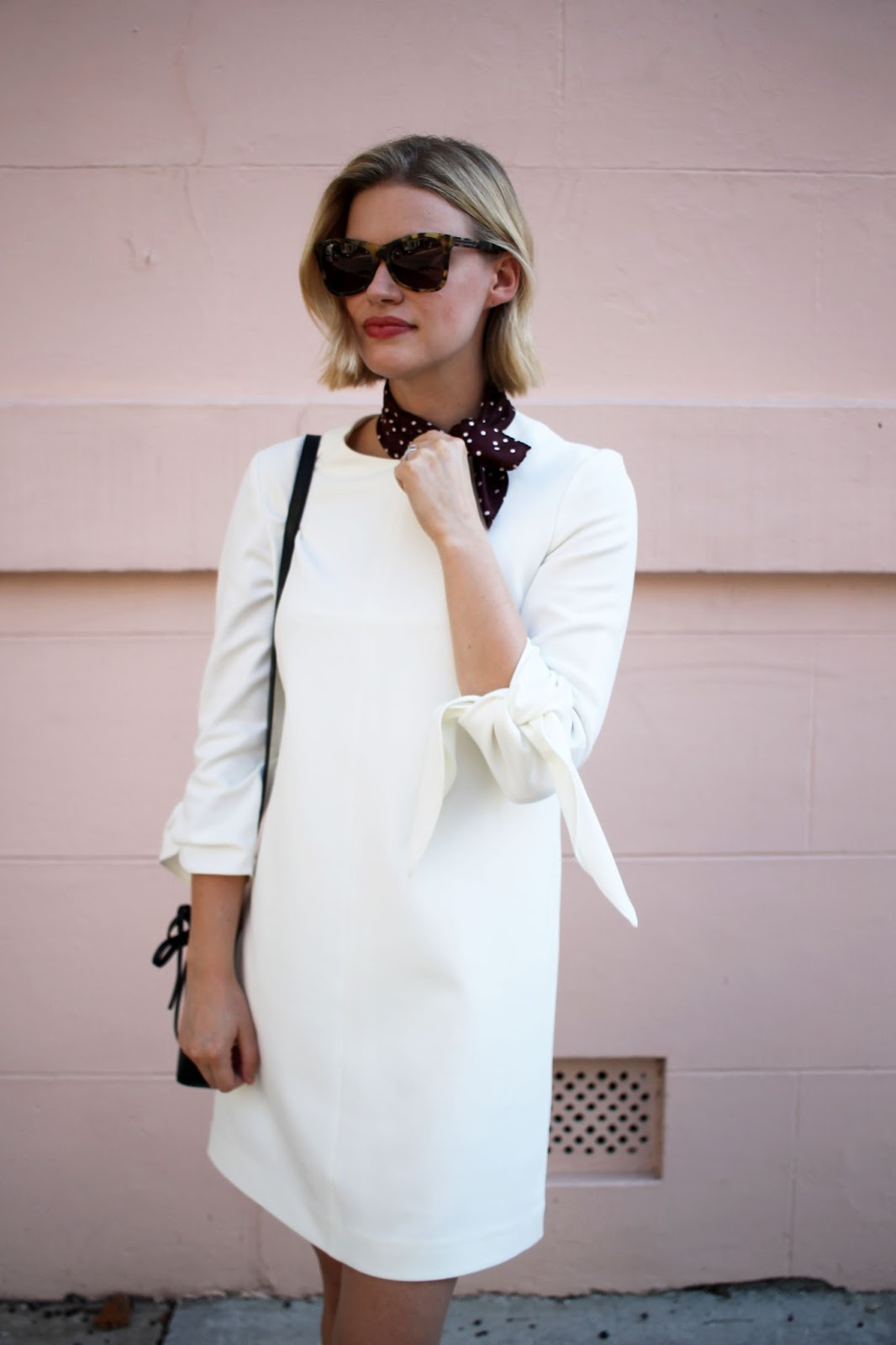 Tibi Tie-Sleeve Dress