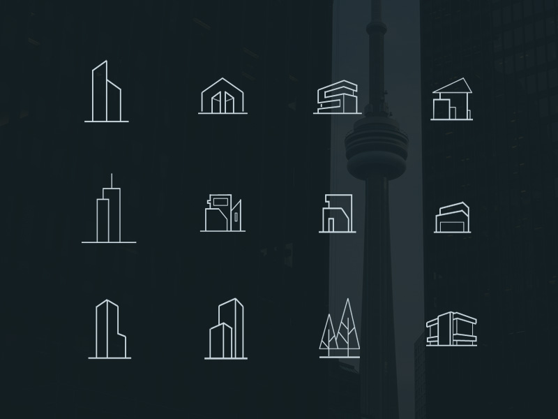 Free minimal architecture icons psd psdblast for Architecture icon
