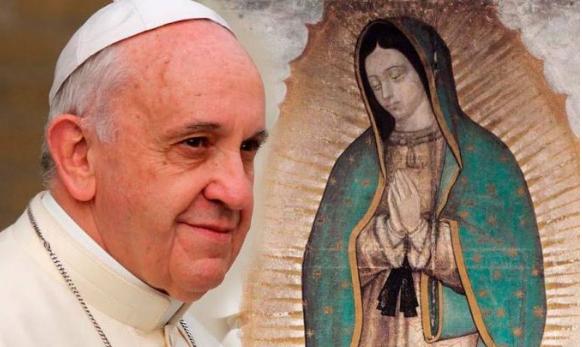 La virgen de Guadalupe no existe, es solo una fabula inventada por los mexicanos: Papa Francisco.