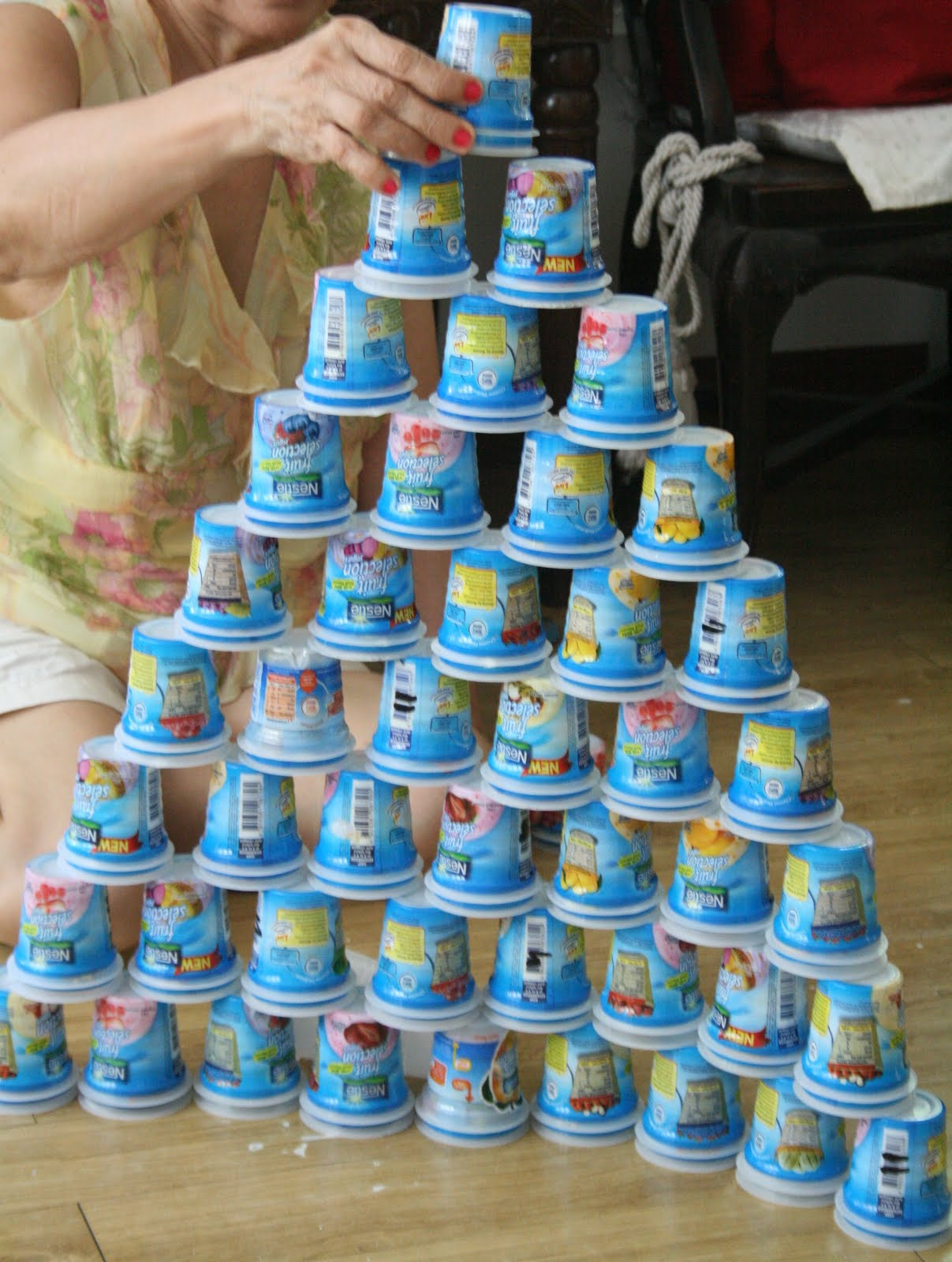 home-eco nanay: what to do with empty yogurt cups