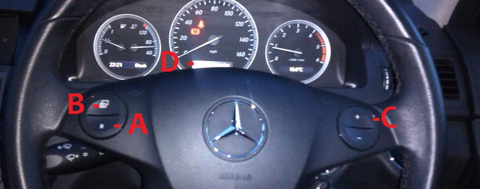 on to reset benz indicator class how c mercedes a service