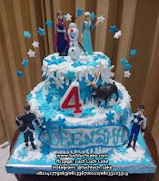 Kue Tart Tingkat Frozen Elsa Anna Olaf