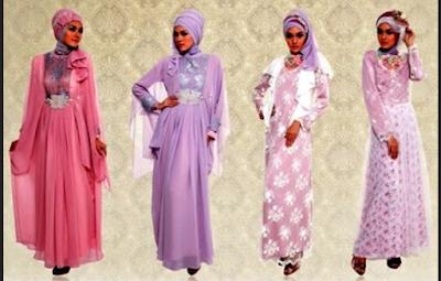 gaun pesta muslim modis