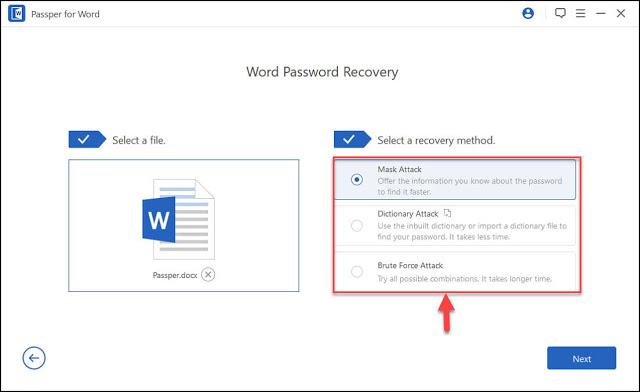 برنامج Passper for Word لإزالة كلمات السر لملفات ال WORD المحمية بسهولة