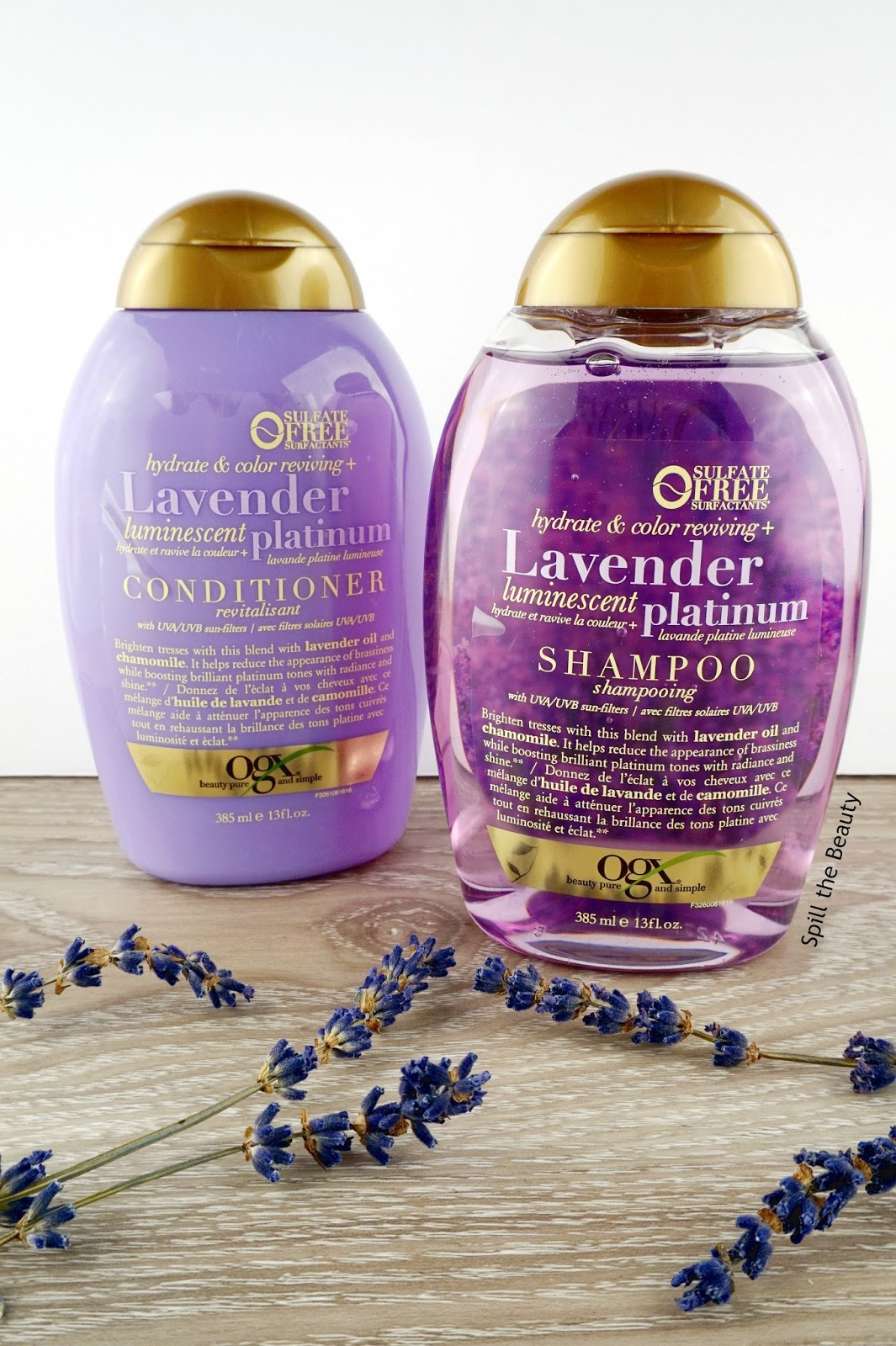 OGX Lavender Luminescent Platinum Shampoo & Conditioner – Review