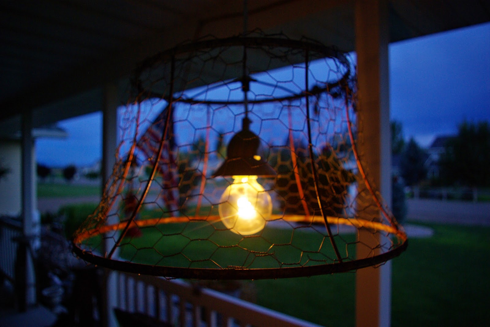 Reclaimed Rustics Chicken Wire Light Fixture