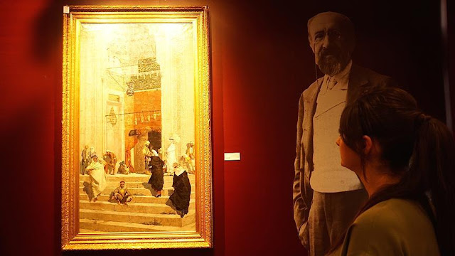 Osman Hamdi'nin 'Yeşil Cami Önü' isimli tablosu 13 milyon 509 bin liraya satıldı