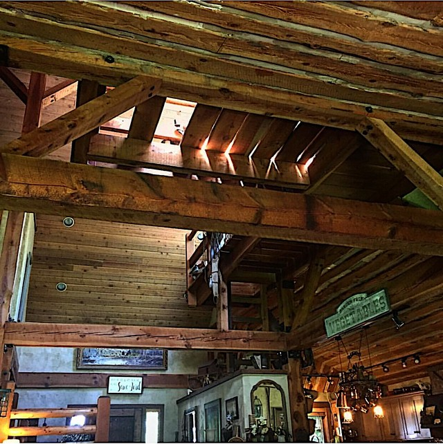 Old World style post and beam cabin