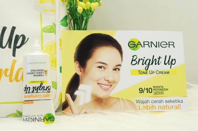 Nyobain Tone Up Cream  Garnier Indonesia, Wajah 2 Tingkat Lebih Cerah Seketika Plus GIVEAWAY