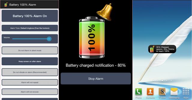 كيف تحافظ على بطارية الهاتف لأطول مدة ممكنة Battery 100% Alarm