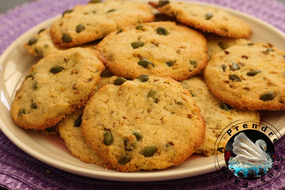 Cookies pistache orange