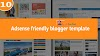 Adsense friendly blogger template 2019