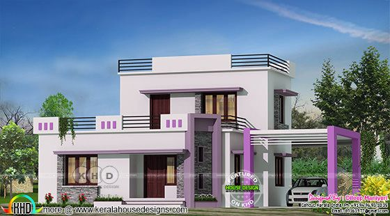 1444 square feet, 3 bedroom house in contemporary style