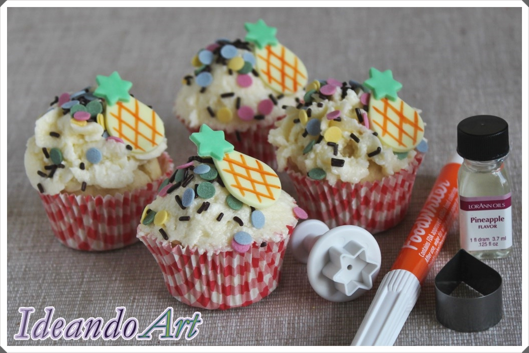 Mini cupcakes tropicales