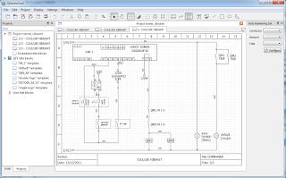 Screenshot 5 Qelectrotech Software Mengambar rangkaian listrik