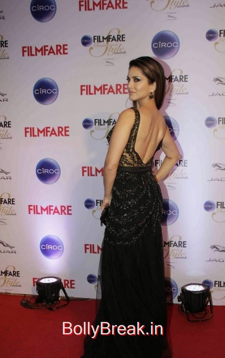 Sunny Leone Unseen Stills, Sunny Leone Hot HD Backless Gown Pics from Filmfare Awards