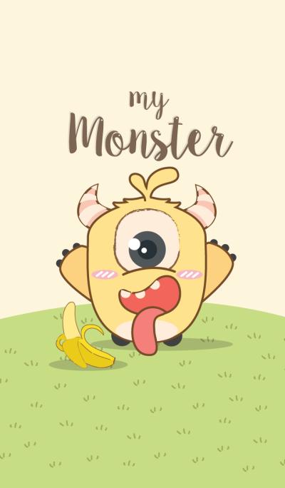 My Monster and banana.