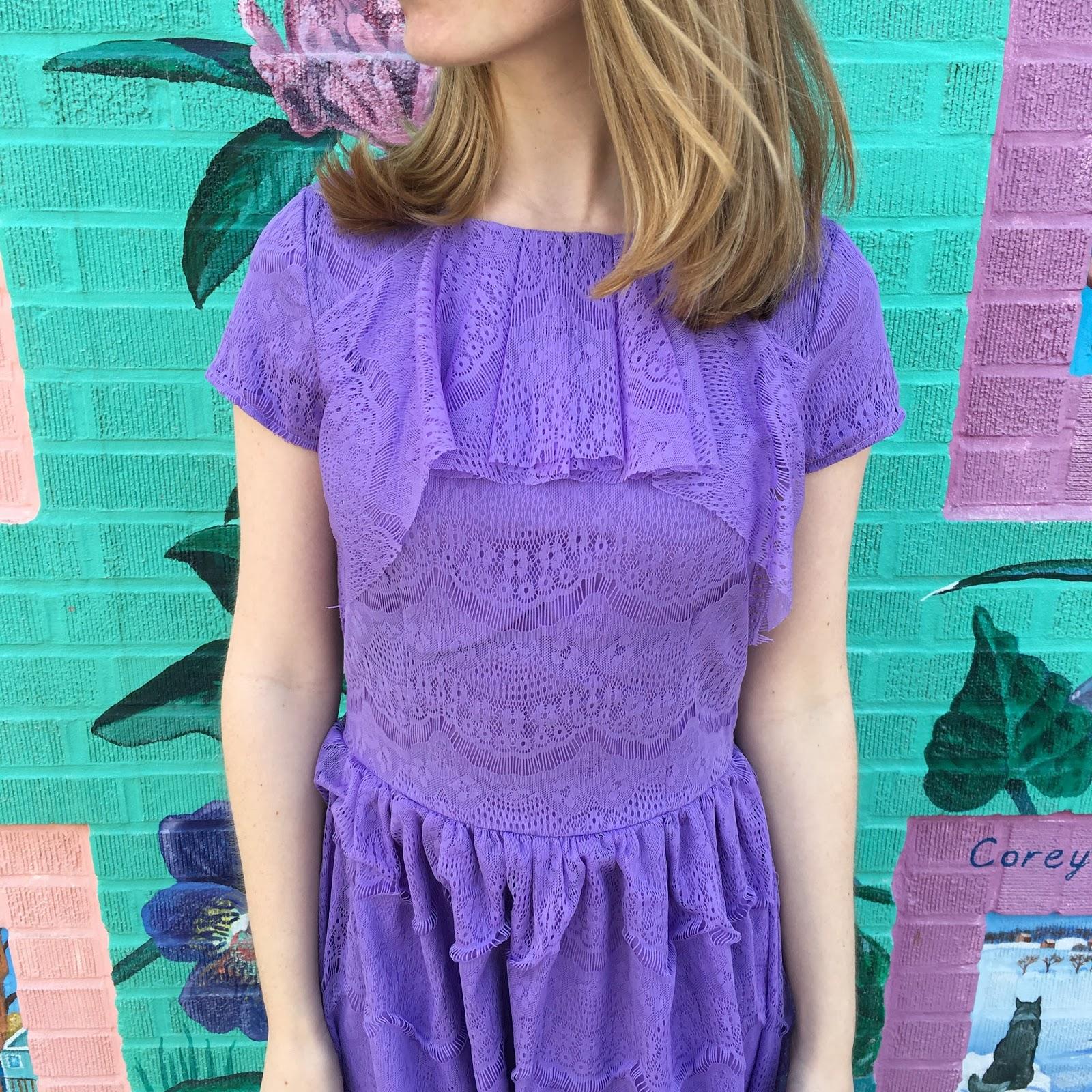 Lavender Spring Dress Shabby Apple